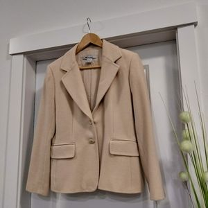 Camel wool and cashmere blazer